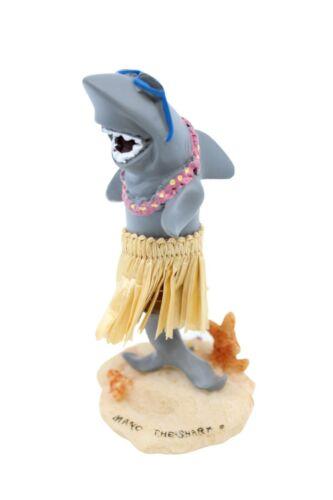 """Hawaiian Hula Shark Miniature Dashboard Doll - Mano the Shark, 4"""" Doll for Car"""