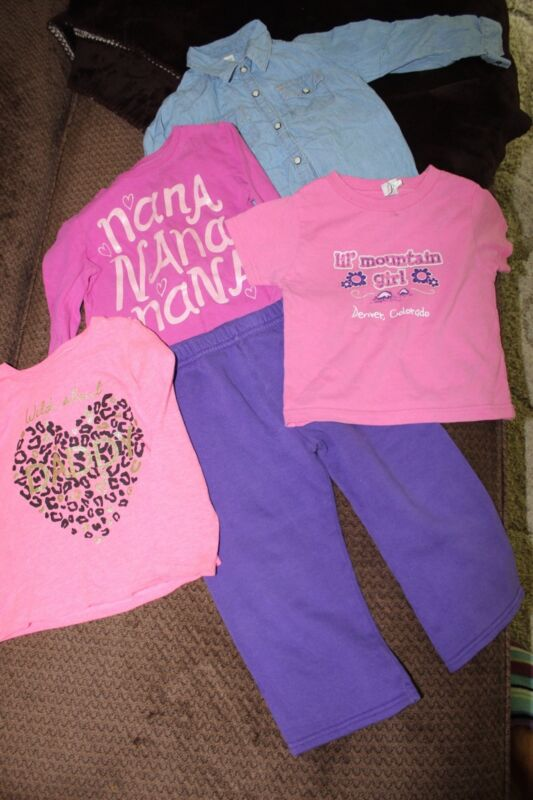 Lot Of 5 - 24 Months/2t Little Girls Fall/winter Clothing