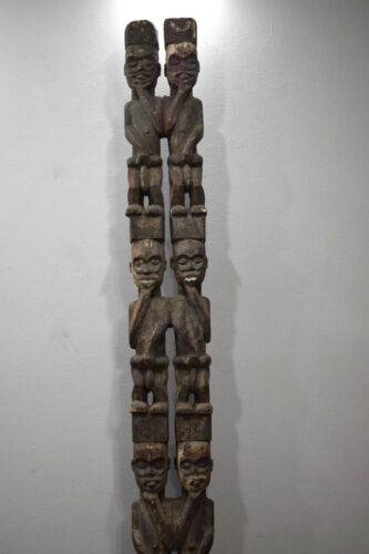 African Mambila Carved House Posts Cameroon