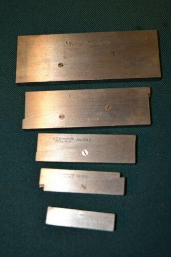 Set 5 pcs Starrett S154 L Adjustable Parallel Bar Machinist Tools