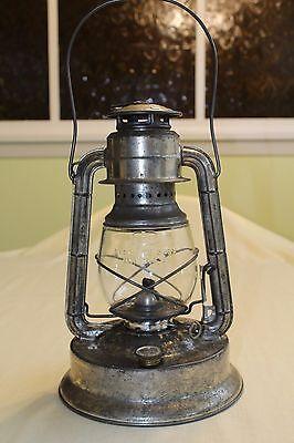 VINTAGE DIETZ LITTLE GIANT KEROSENE LAMP LANTERN LIGHT ORIGINAL SILVER FINISH VG