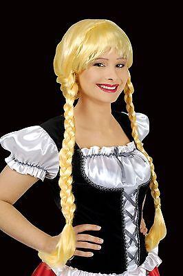 Damen PERÜCKE blond lange Zöpfe HEIDI zb Kostüm Oktoberfest Funkemariechen (Kostüm Zöpfe)