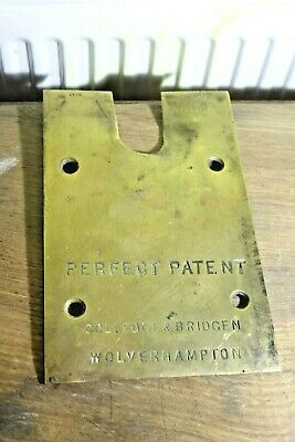 architectural salvage  swing door lift brass base plate  3463