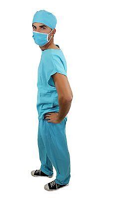 Dr. Med. Sexy Herrenkostüm Kostüm Scrub Doktor Arzt Chirurg OP-Kittel Gr. 48 - Herren Sexy Arzt Kostüm