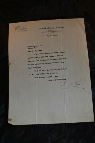 1924 *REAL SIGNATURE* Henry W Keyes, Senator, United States Senate Letterhead