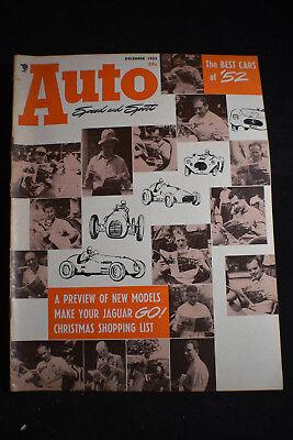 1952 Auto Speed & Sport Mag *Best Cars*Ferrarri*Jaguar*Nardi*Singer