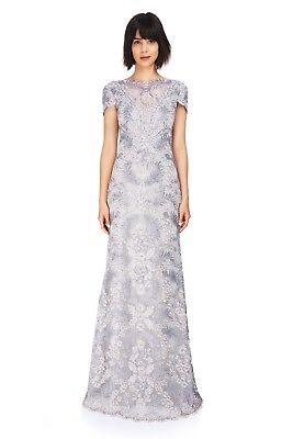 Tadashi Shoji Pemba Gown, AUL16575L, Light Pearl, Size 16