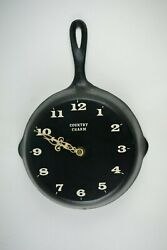 Cast Iron Frying Pan Fry Skillet Hanging Kitchen Decor Wall Clock FOR REPAIR