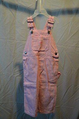 Key Ind. Bib Overalls Pink & White Striped Infants/Toddlers/Kids Lot 223.68 NWT (Bib Overalls Pink)