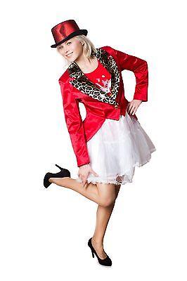 Tailcoat Ladies Pimp Costume Fancy Dress Frock-coat Size 36-50 - Lady Pimp Costumes