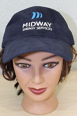 Midway Energy Services Dark Blue Baseball Trucker Cap Hat Adjustable