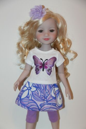 """Outfit FOR Effner Ruby Red Fashion Friends 14.5"""" dolls - Purple Butterfly - NEW"""