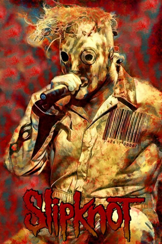 "Slipknot Poster Art ""Psychosocial"" Corey Taylor Large 20x30 Print Free Shipping!"
