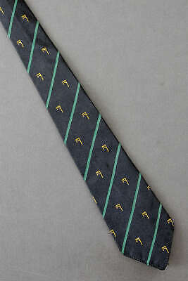 1950s Men's Ties, Bow Ties – Vintage, Skinny, Knit Hangman Game - 1950's Black Vintage Tie Necktie $29.99 AT vintagedancer.com