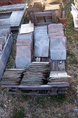 Lot Of 4 Antique Vintage New England Large 12  X 18  Kraft Slate Tiles Shingles