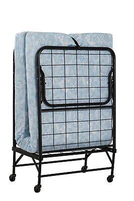 "Twin Folding Bed Cot 4"" Foam Mattress Guest Roll Away Camping Portable Sleeper.."