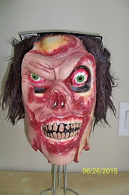 ADULT LES SKINNER FRACTURED FACES ZOMBIE EVIL SCARY LATEX MASK COSTUME (Fractured Faces)