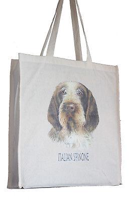 Italian Spinone Dog H Cotton Shopping Tote Bag Long Handles Perfect Gift