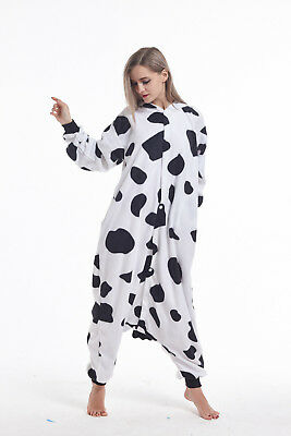 Halloween Men Women Adult Kigurumi Pajamas Cow Animal cosplay Costumes Sleepwear - Men Animal Costumes