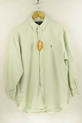 Mens RALPH LAUREN Shirt YARMOUTH OXFORD Long Sleeve LOOSE Fit XL 16.5 Collar P89 Loose Fit Oxford