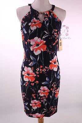 Ivanka Trump Floral Print Matte Jersey Halter Neck A-Line Dress ID7M4EKV Sz XS M