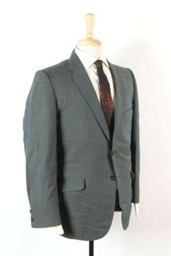 Vintage 60s Sharkskin Slim Skinny Wool 2 Button Suit USA Mens Size 38 Reg