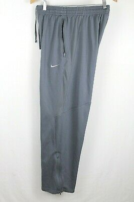 Nike Dri Fit Mens sz XL Gray Athletic Warm Up Track Pants Running Joggers