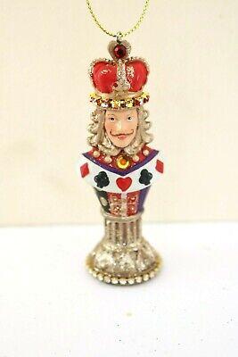 Alice im Wunderland, Schachfigur König, Baumbehang, Weihnachtsschmuck, Anhänger