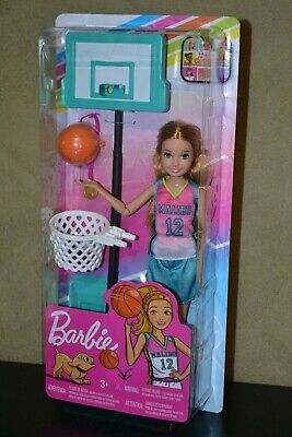 BRAND NEW BARBIE DOLL DREAMHOUSE ADVENTURES STACIE AND BASKETBALL SET
