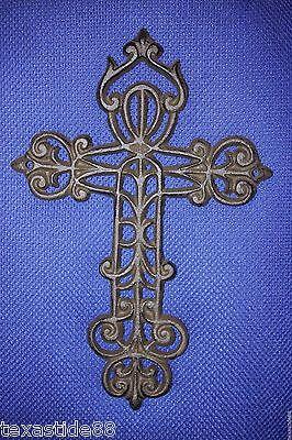 (1) Old European Design Cast Iron Wall Cross, Old-World Cross Decor, C-55