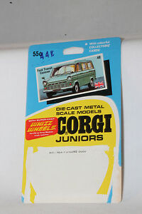 CORGI-JUNIORS-40-FORD-TRANSIT-CARAVAN-CARDBACK-BLISTERPACK-CARD-LOT-F