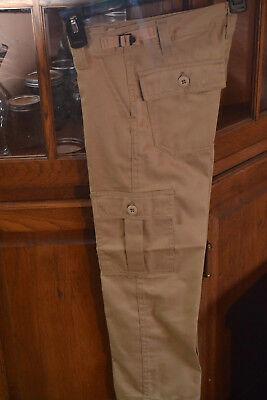 Kids Uniform BDU Combat Cargo Pants sizes 4, 6, 8 Tan/Khaki FAST SHIP ADJ Waist ()