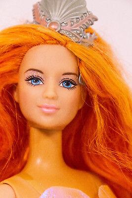 RARE MERMAID FANTASY Kayla Barbie doll long Orange Haiir 2002 Loose