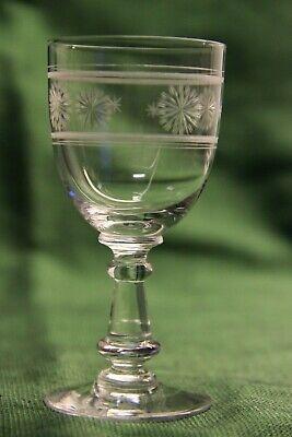5 verres à vin blanc cristal gravé Baccarat ou Saint Louis XIXe 19e  H: 112mn