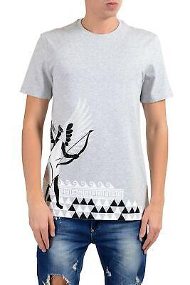 Versace Collection Men's Gray Graphic Short Sleeve Crewneck T-Shirt