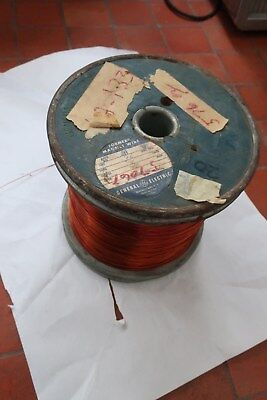 Vintage Huge Ge General Electric Enameled Copper Wire Metal Spool 33 Lb