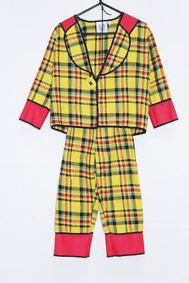 Child's 2 Piece Clown Ex Hire Costume Size 104 cm age 4-5 (110) - Clown Costume Hire