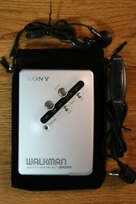 Sony WM-EX677 Walkman Cassette Player with Remote and Earphones