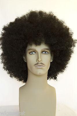 Fun Wigs For Men (Ash Black Brunette Long Curly Fun Color Men's Wig)