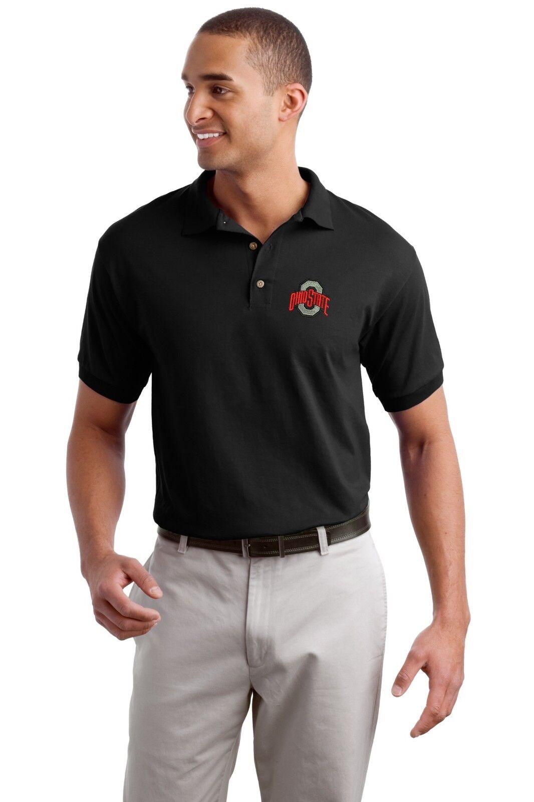 Ohio State Buckeyes Polo Golf Shirt - Embroidered