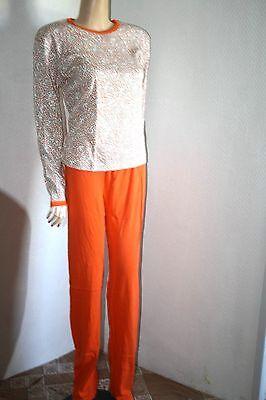 Original 70er Jahre Hausanzug Anzug Schlafanzug Pyama Set - 70er Jahre Hausanzug