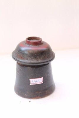 Vintage Hand Carved Lacquer Painted Wooden Kum Kum Powder Tikka Box NH3903