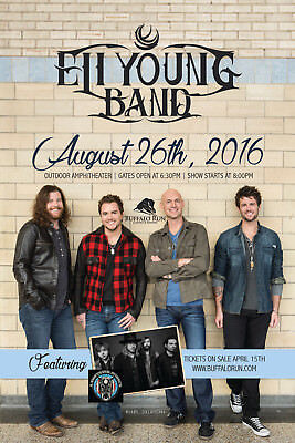 ELI YOUNG BAND/A THOUSAND HORSES 2016 OKLAHOMA CITY CONCERT TOUR POSTER- Country