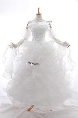 a-010 S/M/L/XL/XXL EUPHEMIA Victorian Gothic Cosplay Kostüm dress Braut-Kleid