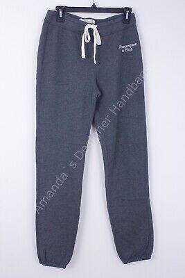 Abercrombie & Fitch Women's Fleece Sweatpants Drawstring Gray Medium NWT