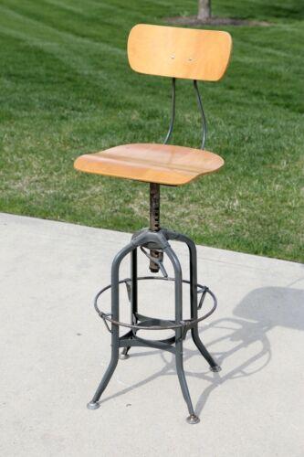 Vintage Toledo Stool Chair Industrial Drafting Desk Adjustable Chair architect