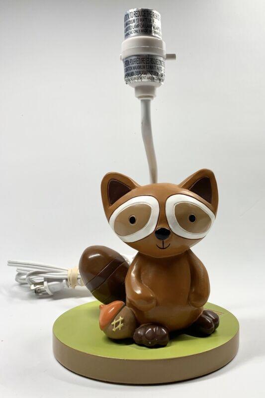 Lambs & Ivy Raccoon Nursery Lamp