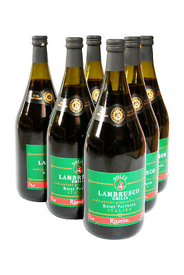 Dolce Lambrusco Emilia Riunite Perlwein 7%süß rot Italien 6x1,5l Cantine