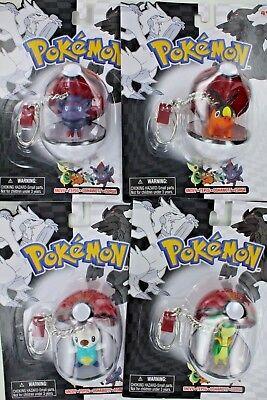 SET of ALL 4 Series 23 Pokemon Poke Ball Keychain Oshawott Tepig Zorua Snivy S23