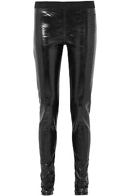 DRKSHDW by Rick Owens Black Coated Cotton Leggings Size US 10 NWT